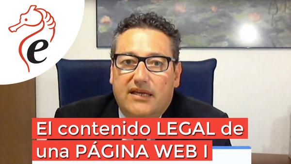 El contenido legal de una página web I