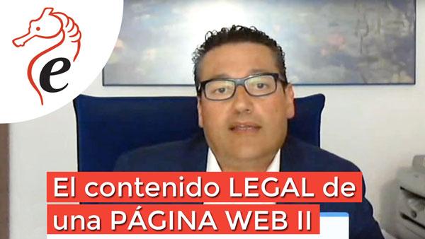 El contenido legal de una página web II