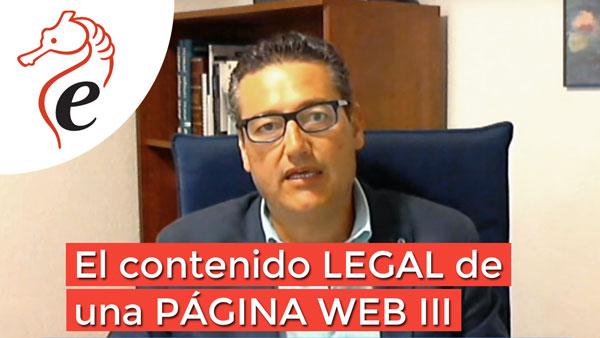 El contenido legal de una página web III
