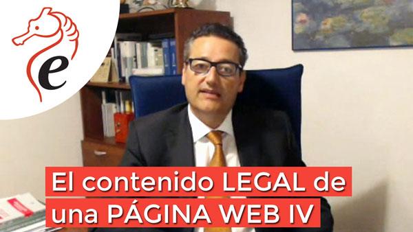 El contenido legal de una página web IV