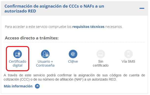 NAF certificado digital