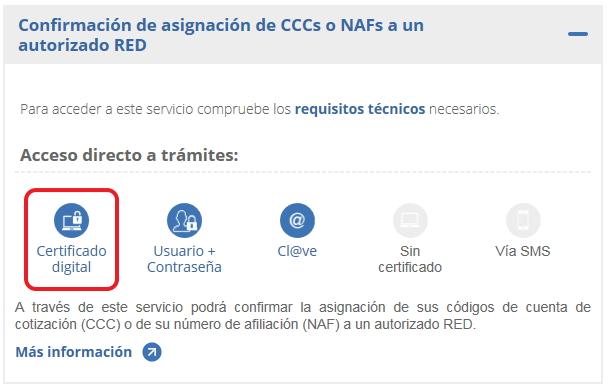 NAF certificado digital