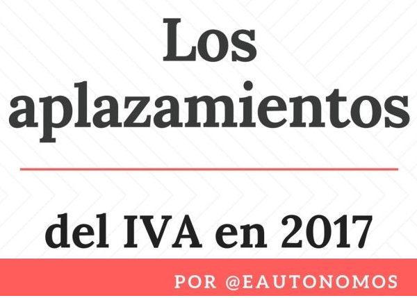 Aplazamiento IVA 2017
