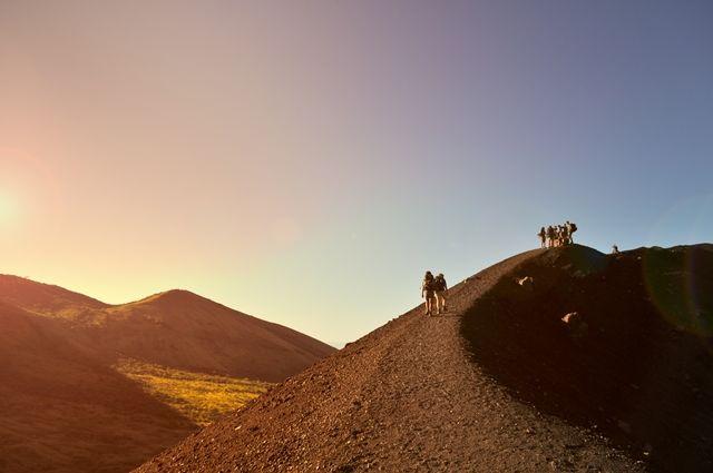 subida, montaña, actividad
