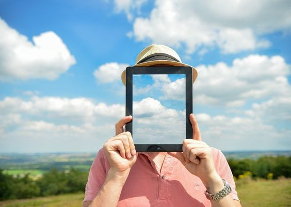 tablet, persona, imagen,