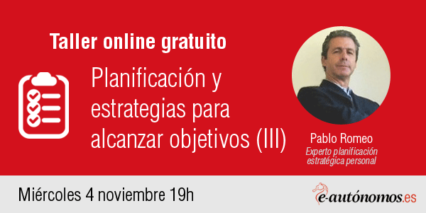 Taller online: Planificación y estrategias para alcanzar objetivos III