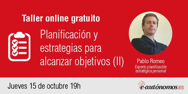 Taller online: Planificación y estrategias para alcanzar objetivos II